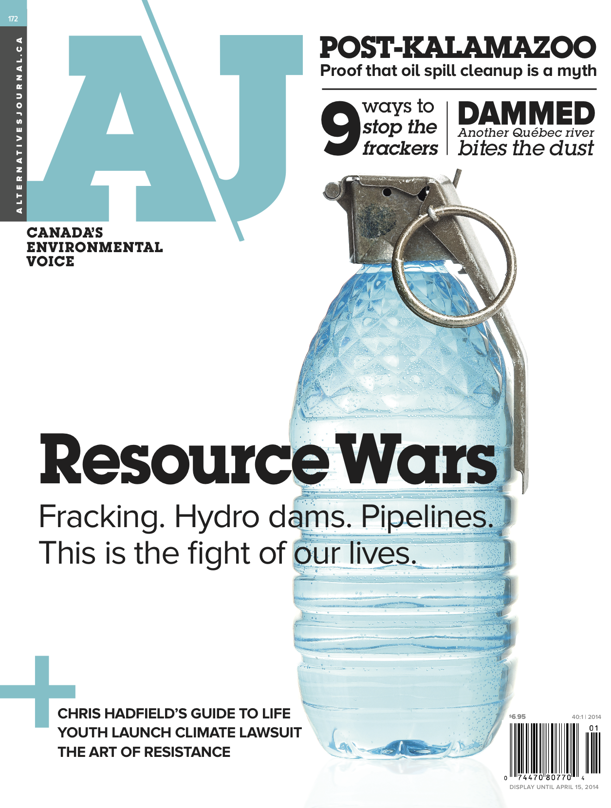 2014 02 Alternatives Journal Feb Issue contains NB article on 9 ways to fight fracking 40n1_COVER