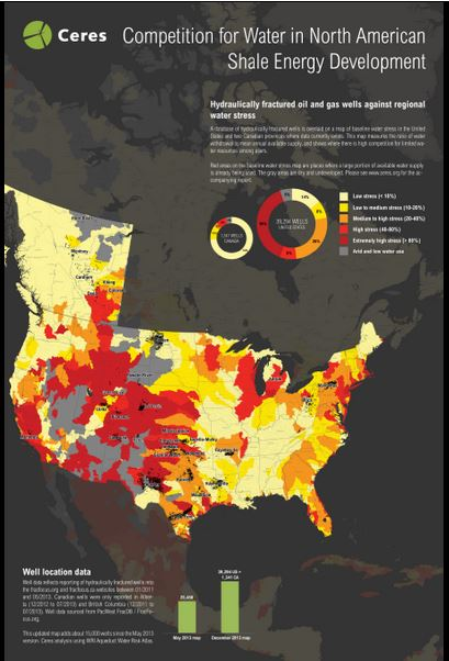 2014 02 Ceres Report on Water for Fracking in high water stress areas of North America