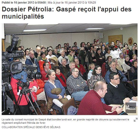 2013 01 18 Dossier Petrolia Gaspe snap meeting