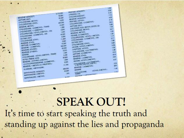2014 03 13 Diana Daunheimer Fracturing our lives and how it affects us all Speak Out Stand against lies and propaganda