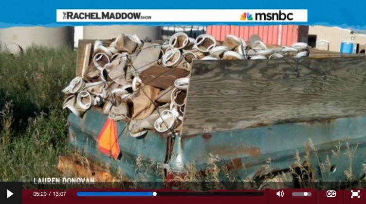 2014 03 14 Radioactive waste illegally dumped in North Dakota Rachel Maddow show Frackings Radioactive Sock Hop dump