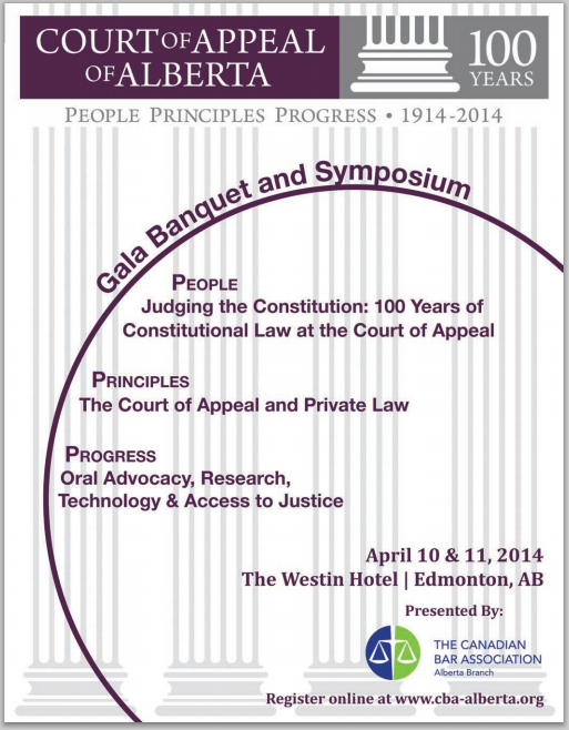 2014 04 10 11 Celebration Centennial Alberta Court Appeal Gala 100 years