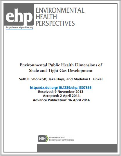 2014 04 16 Environmental Public Health Dimensions of Shale and Tight Gas Development PSE
