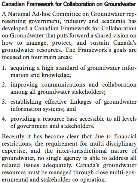 2002 CCME Canadian Framework for Collaboration on Groundwater Page 34