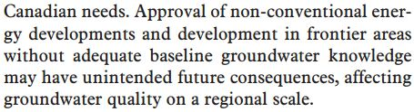 2002 CCME non conventional energy developments may affect groundwater quality on regional scale