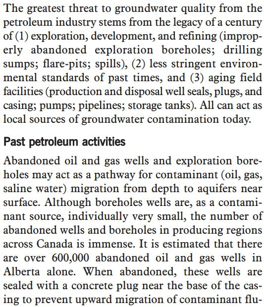 2002 CCME pg 26 harm from abandoned wells, 600,000 abandoned hydrocarbons wells in Alberta alone