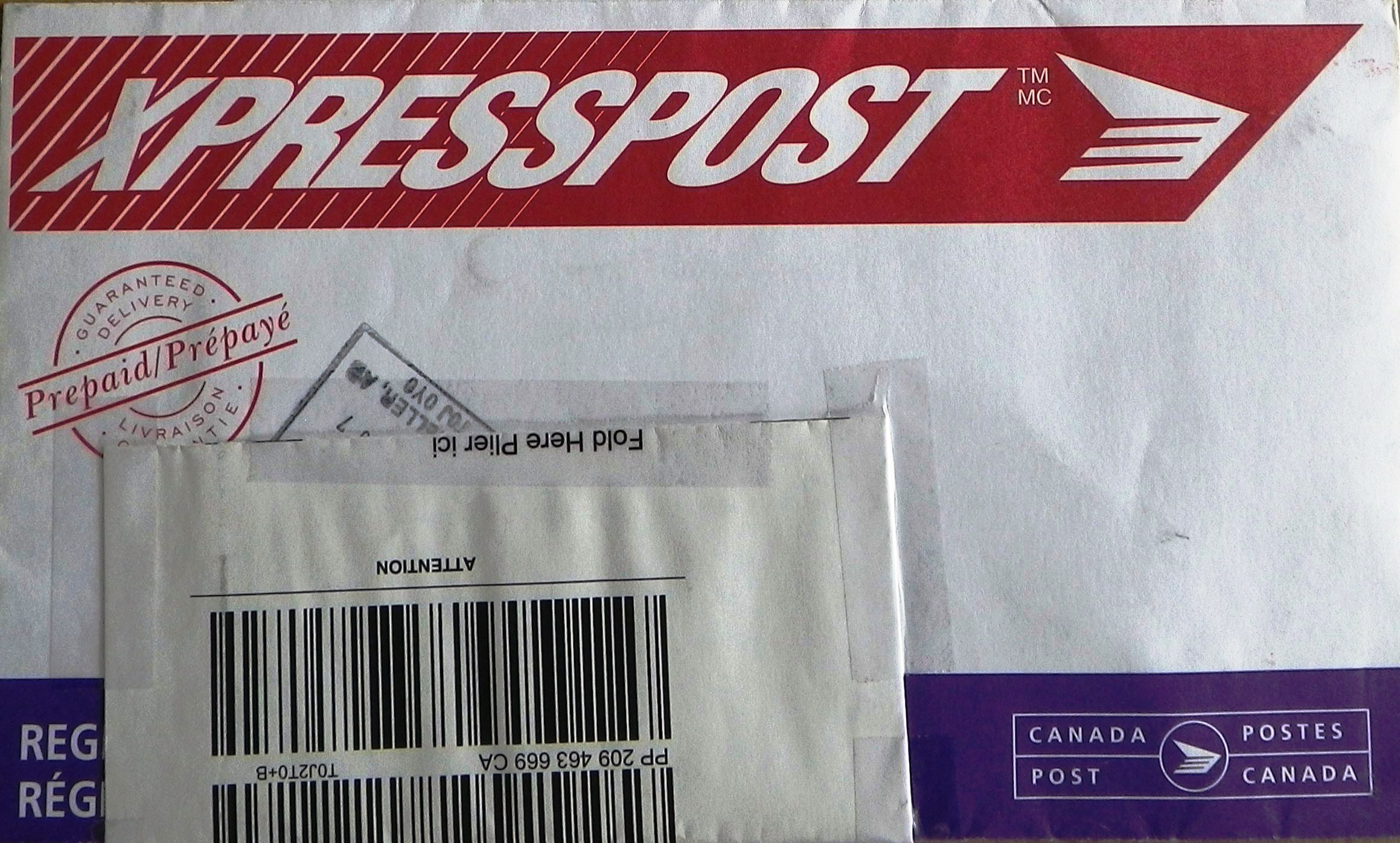 2005 12 front XPRESSPOST stamped refused by addressee contains (EUB) Ernst letter to EUB asking clarication re banishment