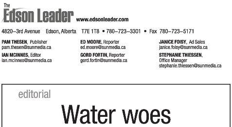 2014 03 24 Edson Leader Water Woes Sulfolane Bonavista