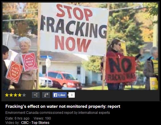 2014 05 01 CBC News on CCA Frac Report