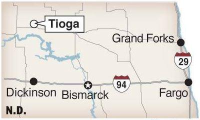 Tioga North Dakota Frac Blow Out