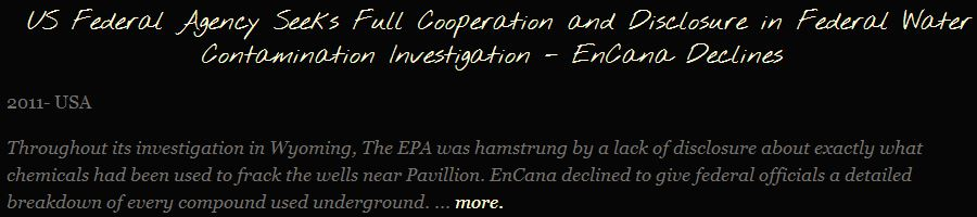 2011 FrackingCanada snap EPA asks for frac chemical information, Encana declines