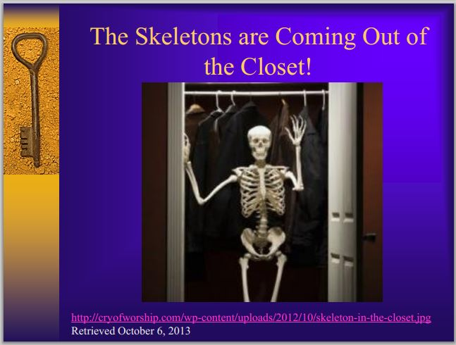 2013 10 Past ERCB Board Member Theresa Watson Presents in Colorado The Skeletons are Coming out of the Closet