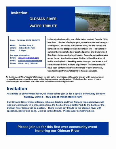 2014 06 08 Oldman River Water Tribute Invitation