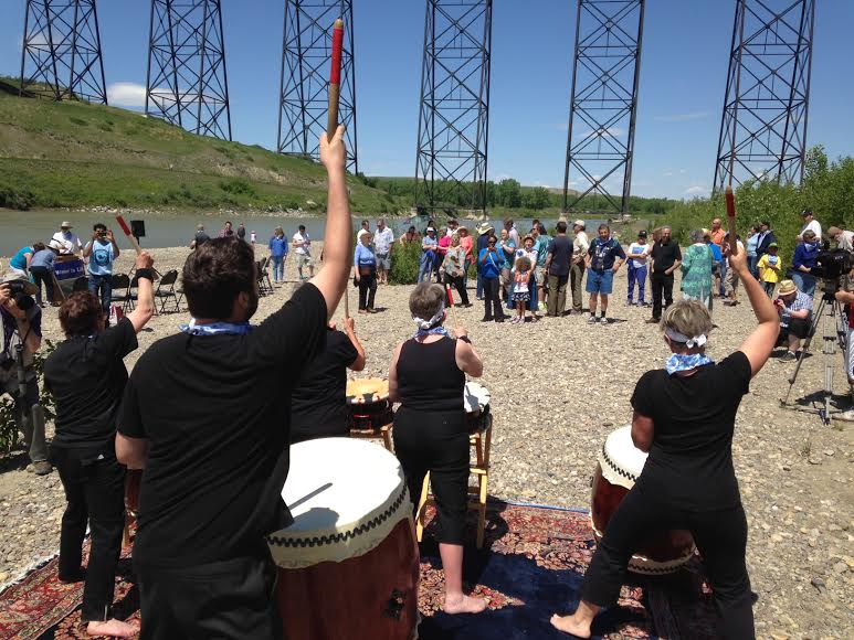 2014 06 08 Oldman River Water Tribute drummers