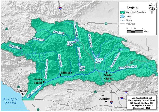 2015 01 15 Snap Santa Clara River Watershed map