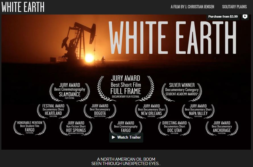 2015 01 17 White Earth by J. Christian Jensen, North Dakota frac boom seen through unexpected eyes, nominated for Academy Award