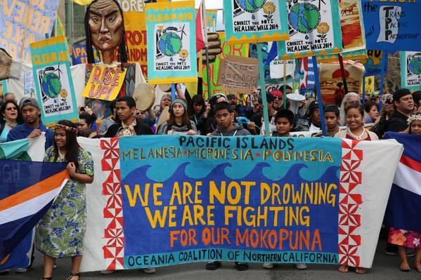 2015 02 07 8,000 plus people march, 'we are not drowning we are fighting for our mokopuna' oceana coalition n california
