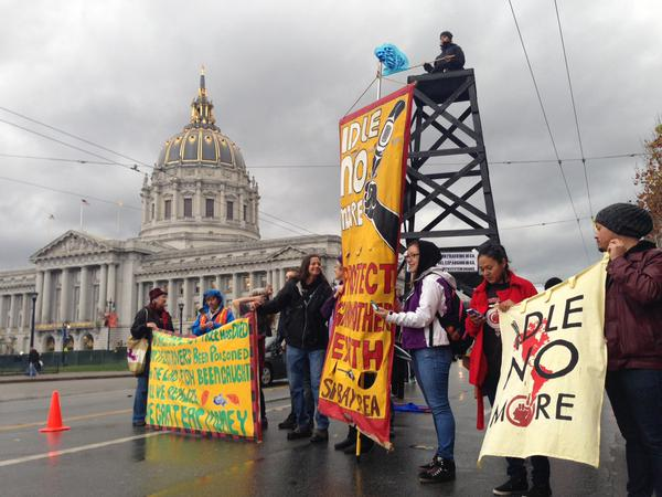 2015 02 07 largest no frac march in US history, idle no more, protect mother earth