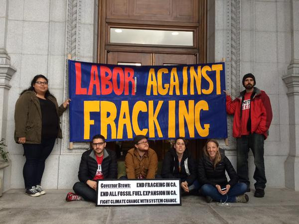2015 02 07 largest no frac march in US history, labor against fracking