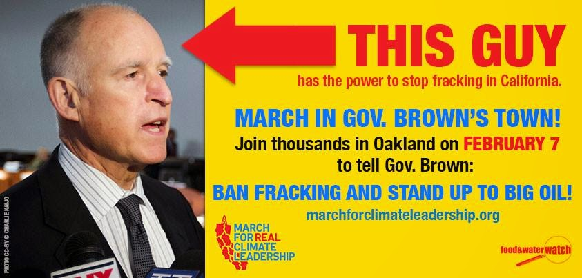 2015 02 07 this guy has the power to stop fracking in california, poster
