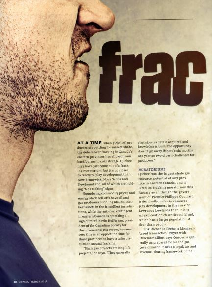 2015 02 17 Frac Talk cover pg, Oil Week, Who, is the man with the scruffy beard, one of the lying Bobs at the AER