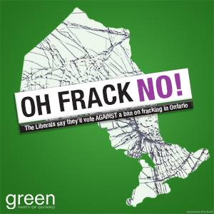 2015 05 08 Oh Frack No, Bill to Ban high volume fracing for shale gas in Ontario, ok to frac for oil, other formations and multi-stage other volume fracing