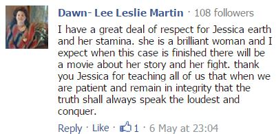 2015 05 08 comment by Dawn-Lee Leslie Martin to Drumheller Mail on Supreme Court saying yes