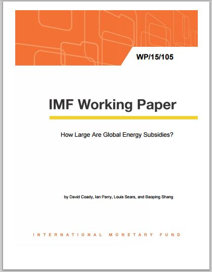 2015 05 15 IMF working paper, trillions in subsidies to oil gas and freedom to pollute