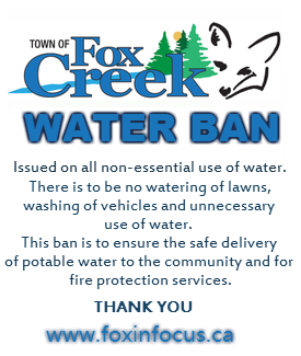 2015 05 27 Water Ban in Town of Fox Creek, in AER's deregulated, blanket approval, frac frenzy, pilot project
