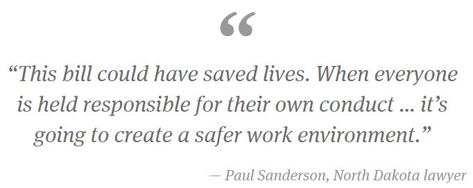 2015 06 13 Bakken Oil Boom Serial Killer, Paul Sanderson, Lawyer, this bill could have saved lives