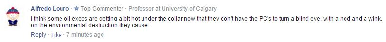 2015 06 23 commenter Alfredo Louro to Calgary Herald article on NDP to review mandate of AER
