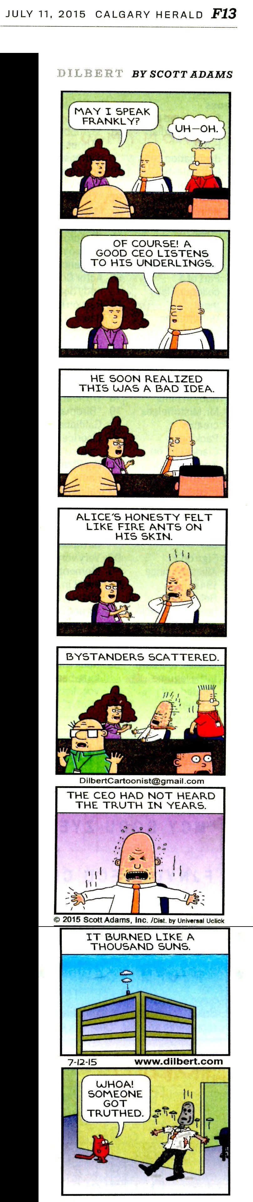 2015 07 11 Dilbert on truth and the ceo