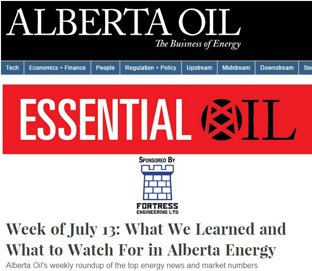 2015 07 13 Alta Oil Mag, Essential Oil, What we Learned, What to Watch for in Alberta Energy