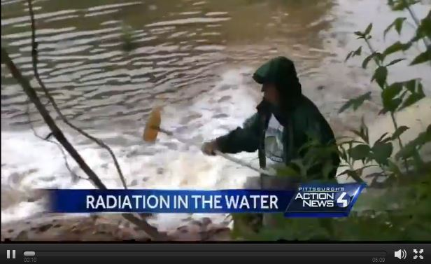 2015 07 16 Snap 60 times higher than allowed radioaction in river water going into PA drinking water treatment facility, can't filter radium out