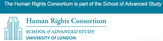 2015 07 23 Human Rights Consortium School of Advanced Study, University of London