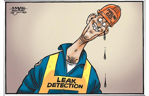 2015 07 24 Oil and Gas Industry Leak Detection, Malcolm Mayes cartoon, Edm Journal