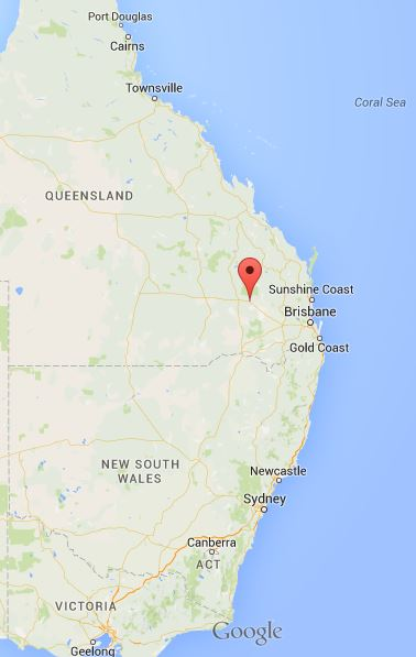 2015 08 10 google map Chinchilla, SE Queensland, Australia