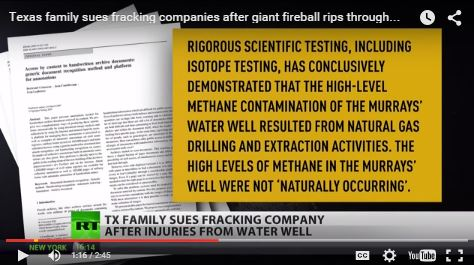 2015 08 25 snap RT Alexey Yaroshevsky clip on Cody Murray's frac contaminted water explosion, harm lawsuit