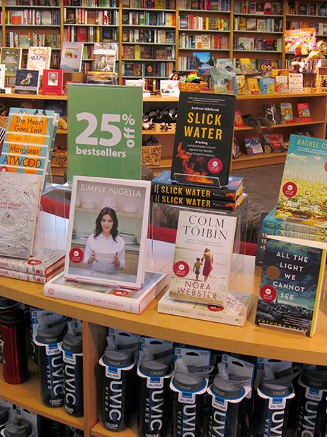 2015 12 16 Slick Water, best seller in non-textbooks, University of Victoria Book Store