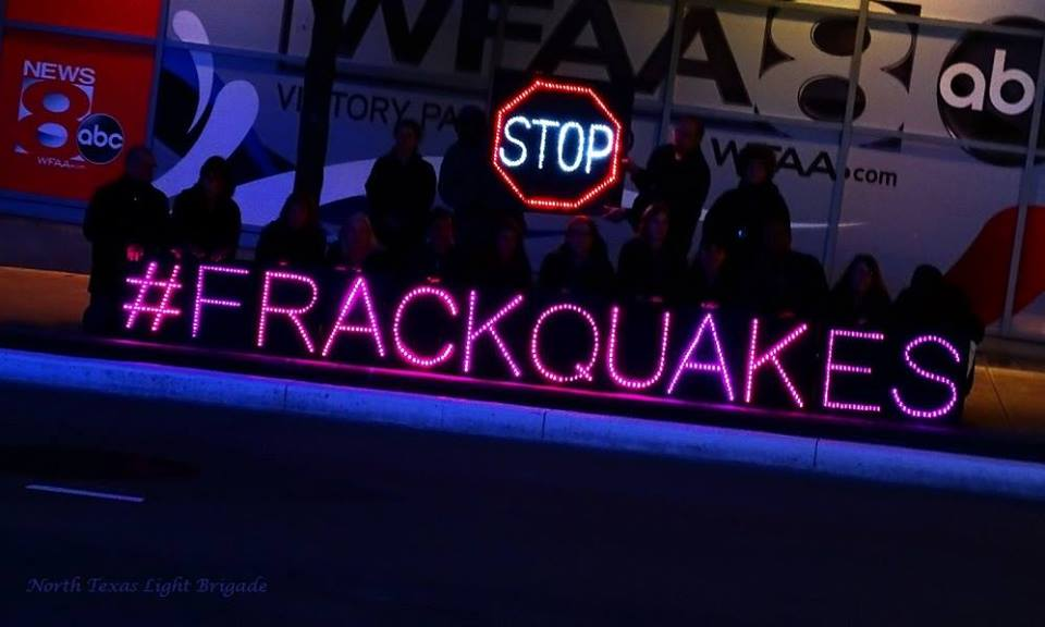 2015 Irving Impact, Stop Frackquakes Facebook Header photo