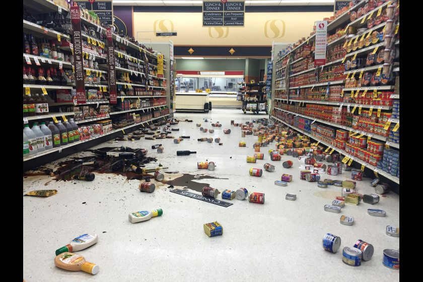 2016 01 24 Alaska Dispatch News, photo by Vincent Nusunginya, fallen foods in Safeway store after 7.1 quake