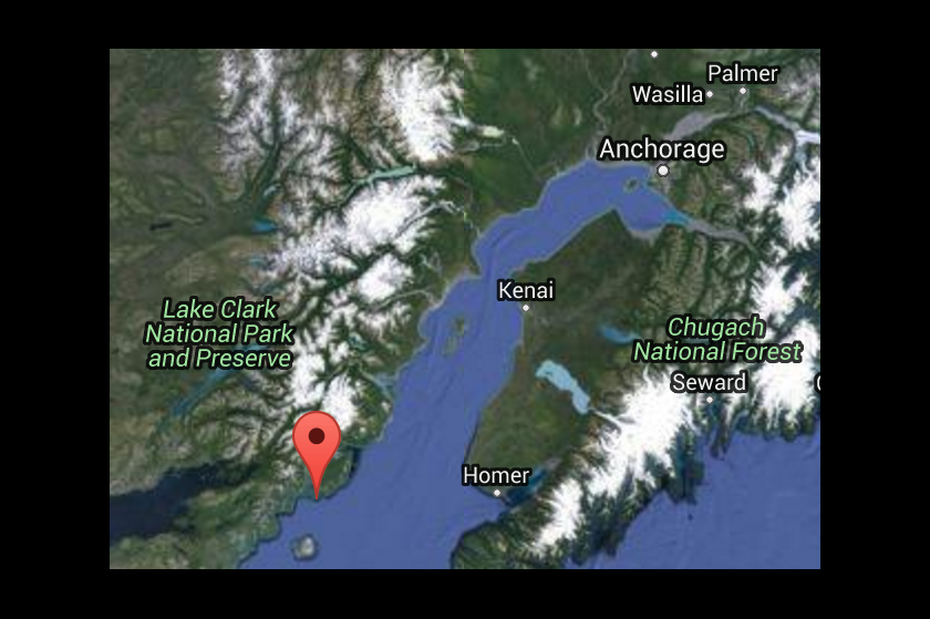 2016 01 24 epicentre alaska 7.1M quake, struck at 1,30am