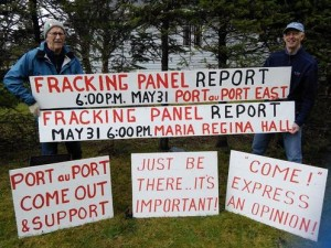2016 05 Photo, Port au Port Public Services Announcement, Newfoundland Labrador Hydraulic Fracturing Review Panel Final-Report released to public May 31, 2016