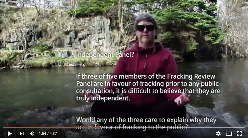 2016 06 02 snap of NLHFRP 'Independent panel' in Dont frack NL musical submission to NLHFRP and petroculture 2016
