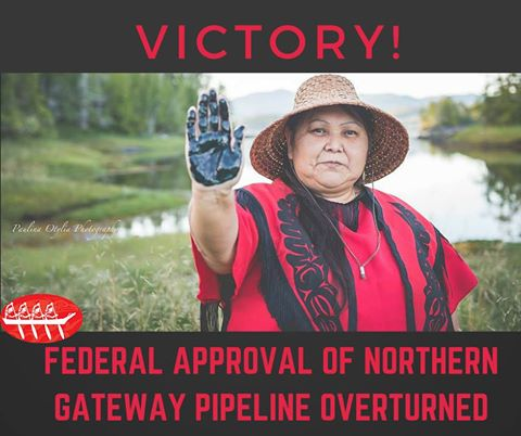 2016 06 30 Harper govts approval of Northern Gateway pipeline overturned by FC