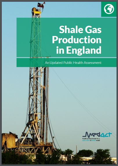 2016 07 07 Shale Gas Production in England, Updated Public Health Assessment