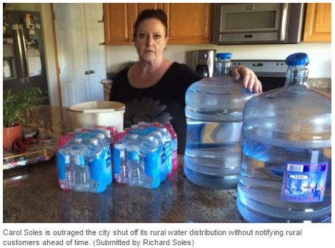 2016 07 26 Carol Soles outraged water shut off, Husky bitmen, chemical spill into N Sk river