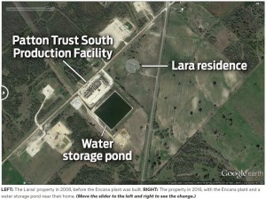 2016 08 07 Snap after Encana facility built near Lara residence, did Encana make them ill