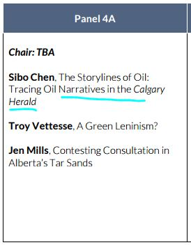 2016 08 Petrocultures Panel 4A Sibo Chen, Storylines of Oil, Tracing Oil Naratives in Calgary Herald