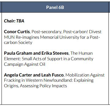 2016 08 Petrocultures Panel 6B Paula Graham & Erika Steeves, Small acts of support, Angela Carter & Leah Fusco, Mobilization against fracing in W NL